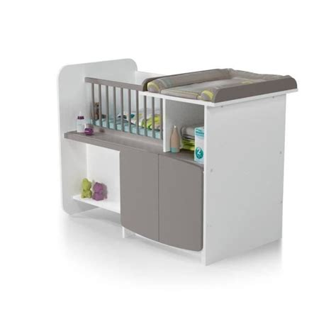chambre bébé winnie at4 lit bébé combiné evolutif 1 2 3 blanc taupe blanc