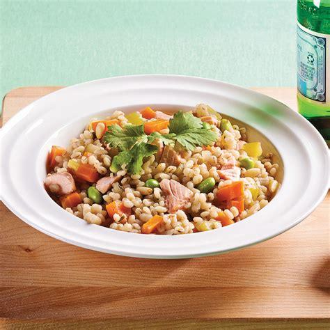 orge recettes cuisine mijoté d 39 orge au saumon et légumes soupers de semaine