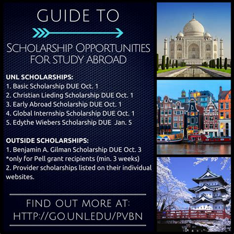 apply for study abroad scholarship announce university
