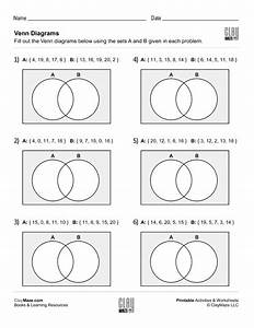 Fill In The Venn Diagrams  Set 4   U2013 Childrens Educational