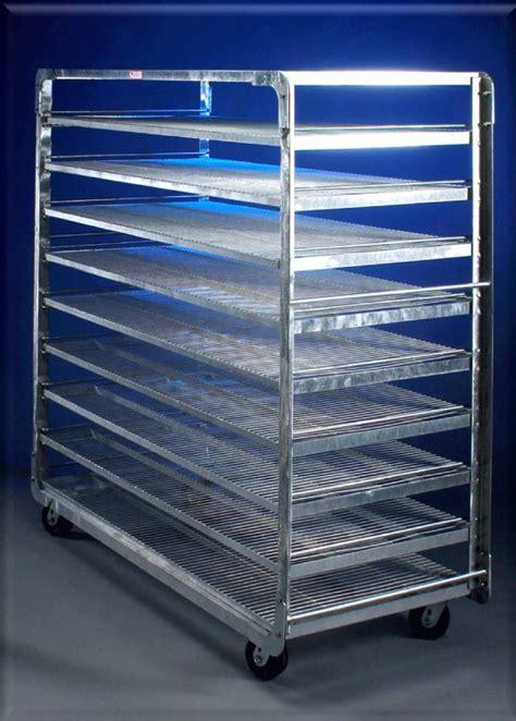 mobile bread rack galvanized  bakeryequipmentcom   bakery equipment source