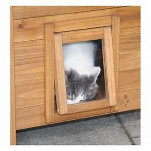 Maison Pour Chat Extérieur : maisonnette pour chats en bois lodge accessoires pour le ~ Premium-room.com Idées de Décoration