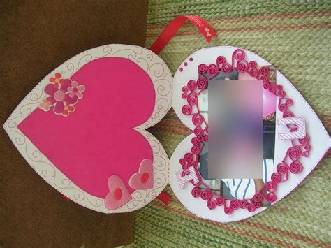 Valentines day transparent heart frame card. Vishesh Collections - Handmade by Deepti: Heart Shaped Card