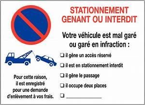 Mise En Fourrière : autocollants dissuasifs remplir stationnement interdit mise en fourri re seton fr ~ Gottalentnigeria.com Avis de Voitures
