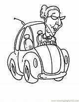Coloring Pages Lady Cars Yeller Line Template Clipart Printable Sports Drawing Racing Classic Popular Sketch Library Coloringhome sketch template