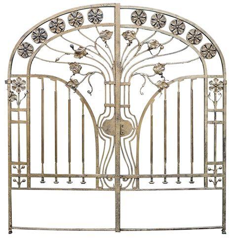 An Impressive Art Nouveau Wrought Iron Gate   Modernism