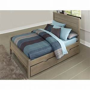 NE Kids Highlands Alex Full Panel Bed with Trundle in