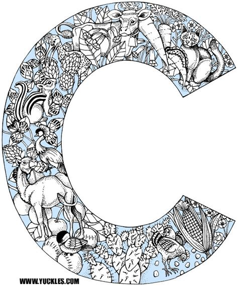 color starting with c letter c coloring page by yuckles