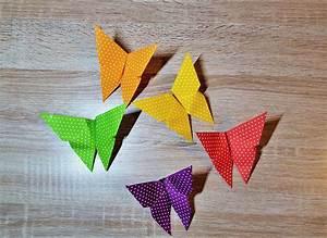 Origami Schmetterling Anleitung : origami schmetterling der einfache klassiker diy origami butterfly ~ Frokenaadalensverden.com Haus und Dekorationen