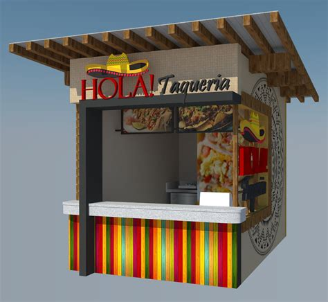 sketchup cuisine food stall design 3d sketchup downloadable complete