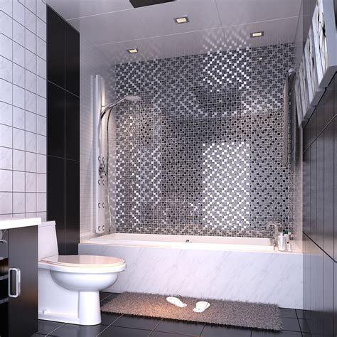 silver kitchen tiles black painted design glass mosaic tile silver 2225