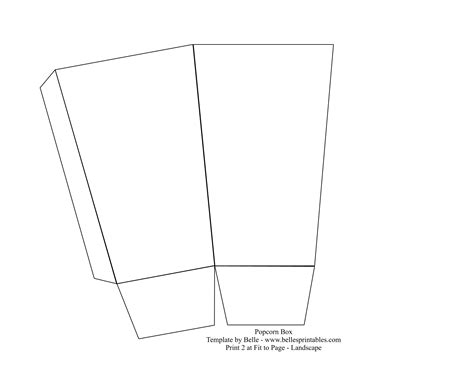 batman gift box template 8 best images of printable popcorn boxes to make free