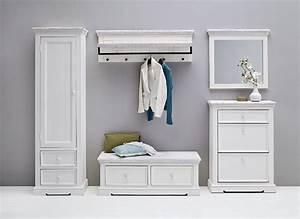 Garderobe Vintage Weiß : garderobe landhaus opos set no 4 flurm bel wei ~ Sanjose-hotels-ca.com Haus und Dekorationen