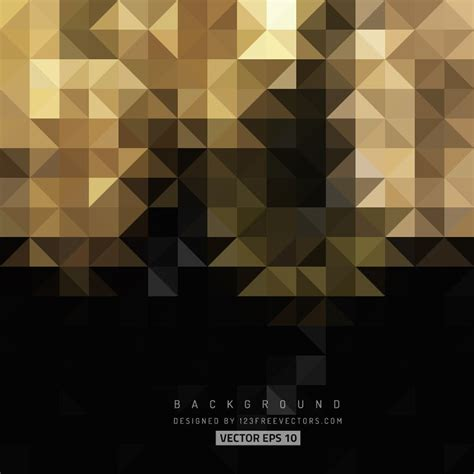 Abstract Black Triangle Background by Black Gold Abstract Triangle Shape Background Gold