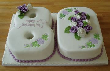 Birthday Cakes For 80 Year Old Woman Unique 80th