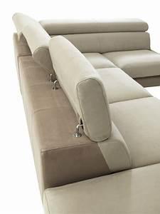 Canapé D Angle : canap d 39 angle tissu cuir ou microfibre positano crozatier ~ Teatrodelosmanantiales.com Idées de Décoration