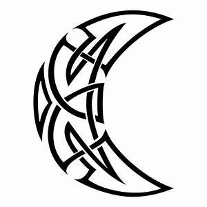 Tribal Full Moon Design Celtic moon symbols celtic ...