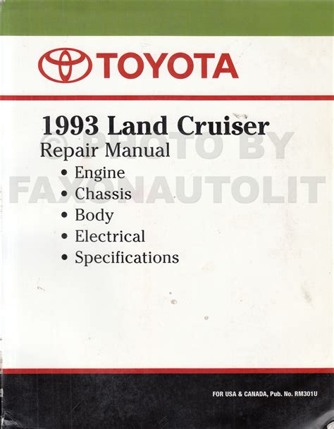 car owners manuals free downloads 1993 toyota land cruiser navigation system 1993 toyota land cruiser repair shop manual factory reprint
