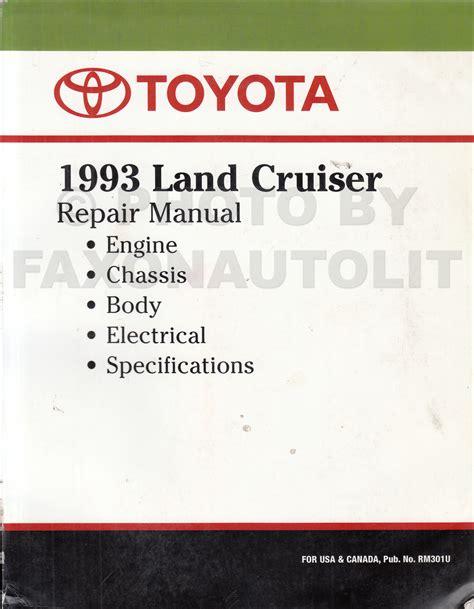 car manuals free online 1993 toyota land cruiser head up display 1993 toyota land cruiser repair shop manual factory reprint