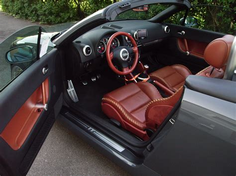 audi tt roadster     exclusive amber red