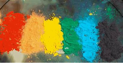 Powder Paint Rainbow Drum Explosive Every Gifs