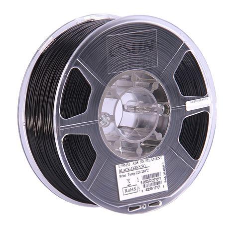 abs 3d drucker esun 3d drucker filament abs 1 75mm schwarz premium filament kaufen 3dz