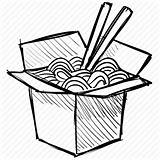 Wok Drawing Noodles Box Sushi Chinese Transparent Clipart Chopstick Icon Line Chopsticks Drawings Snack Paintingvalley Clipartmag sketch template