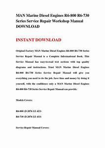 Man Marine Diesel Engines R6 800 R6 730 Series Service