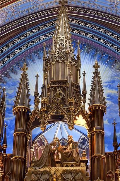 Montreal Dame Notre Basilica Church Churches Thousandwonders