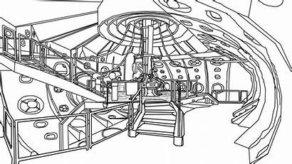 Tardis Interior Doctor Coloring Drawing Deviantart Drawings