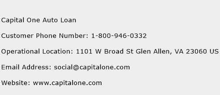 capital one phone number auto capital one auto loan customer service phone number