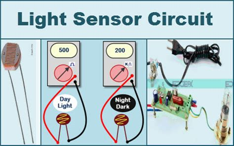 Simple Light Sensor Circuit With Applications