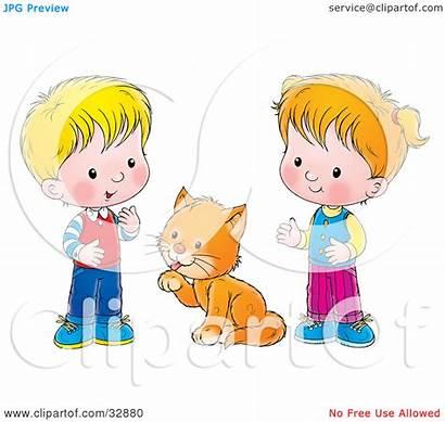 Between Clipart Cat Boy Illustration Grooming Alex