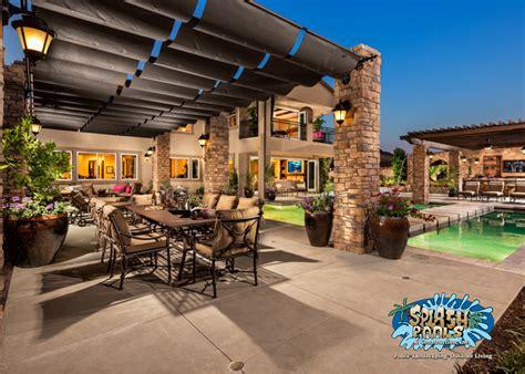 outdoor patio designs backyard design ideas splash pools and construction