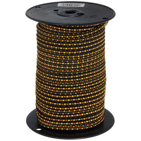 home depot l cord keeper 5 16 in x 125 ft bungee cord reel in multi