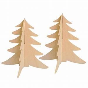 Sapin En Bois Cultura : sapins bois assembler 15cm x2 tout creer ~ Zukunftsfamilie.com Idées de Décoration