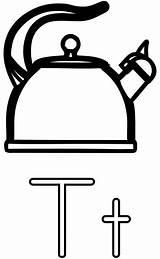 Kettle Coloring Teapot Printable Letter Pages Alphabet Tea Clip Clipart Worksheets Letters Colouring Illustration Teakettle Cookware Clker Education Printables English sketch template