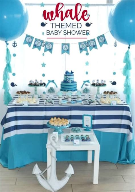A Boy's Whale Themed Baby Shower  Spaceships And Laser Beams