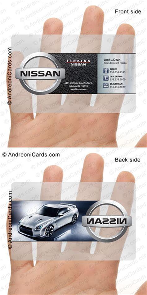 clear plastic card design sample nissan business card