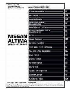 Nissan Altima 2000 Service Manual Pdf  U0026gt  Akzamkowy Org