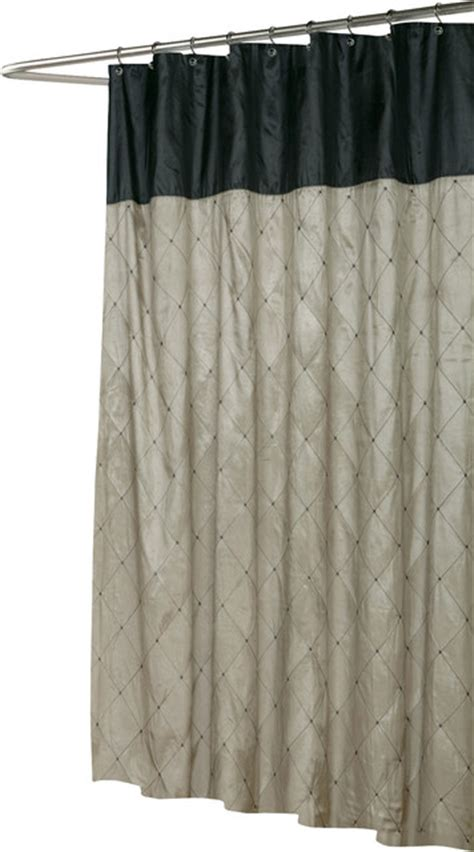 quot balmoral quot fabric shower curtain in black brown
