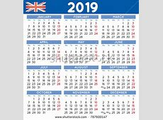 2019 Calendar Uk month printable calendar