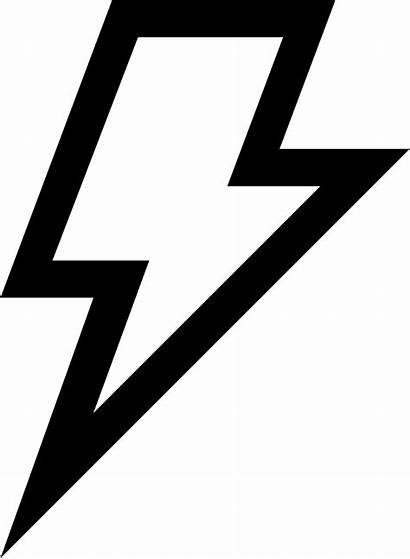 Lightning Bolt Svg Icon Symbol Weather Outlined