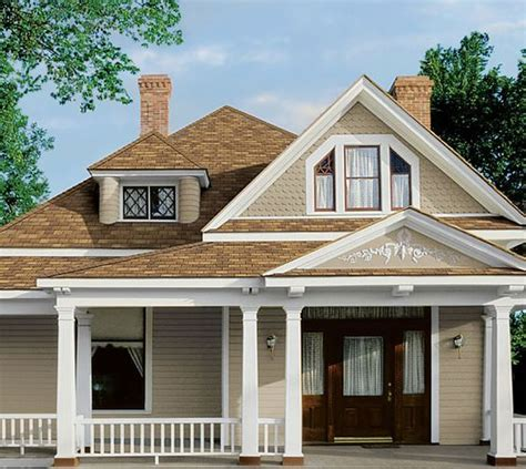 house green trim brown roof search