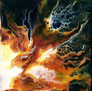 Abstract, Art, Painting, Modern, Night, Fire, Colorful, Small