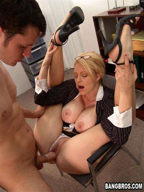Beautiful Charlee From Milf Sucks Big Cock In The Office