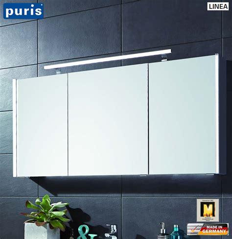 Spiegelschrank Hersteller by Puris Linea Spiegelschrank 130 Cm Mit Seitlichen Led