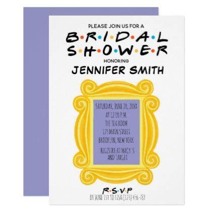 friends themed bridal shower invitation
