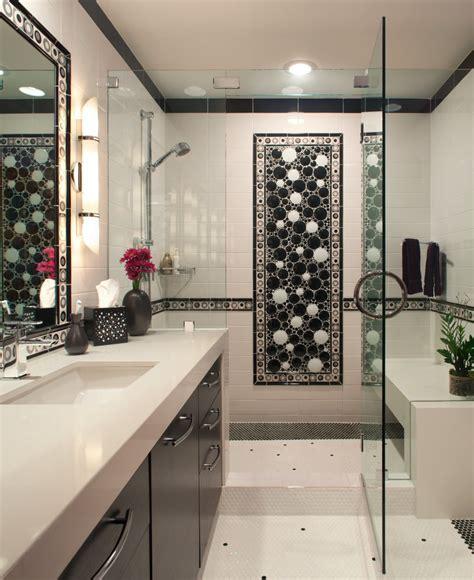 san diego black  white bathroom art contemporary