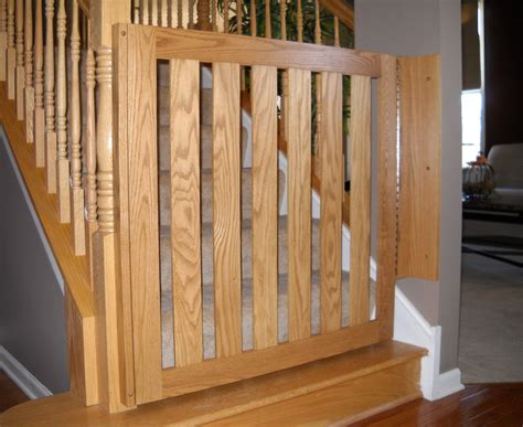 Wooden Baby Gates For Stairs With Banisters by White Oak Banister Baby Gate Baby Safety Gates Child